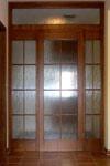 Masivní dveře prosklené