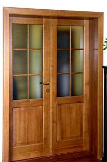 Interiérové dveře prosklené dvoudílné