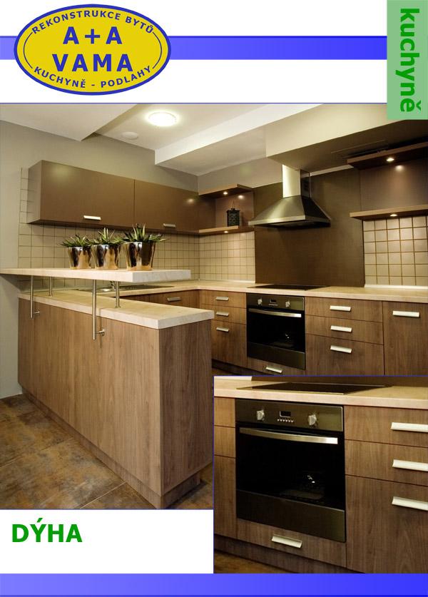Kuchyně na míru dýha