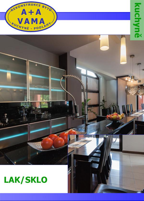 Kuchyně na míru LAK/SKLO