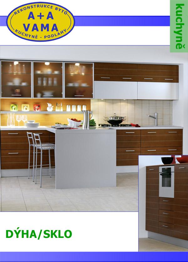 Kuchyně na míru DÝHA/SKLO